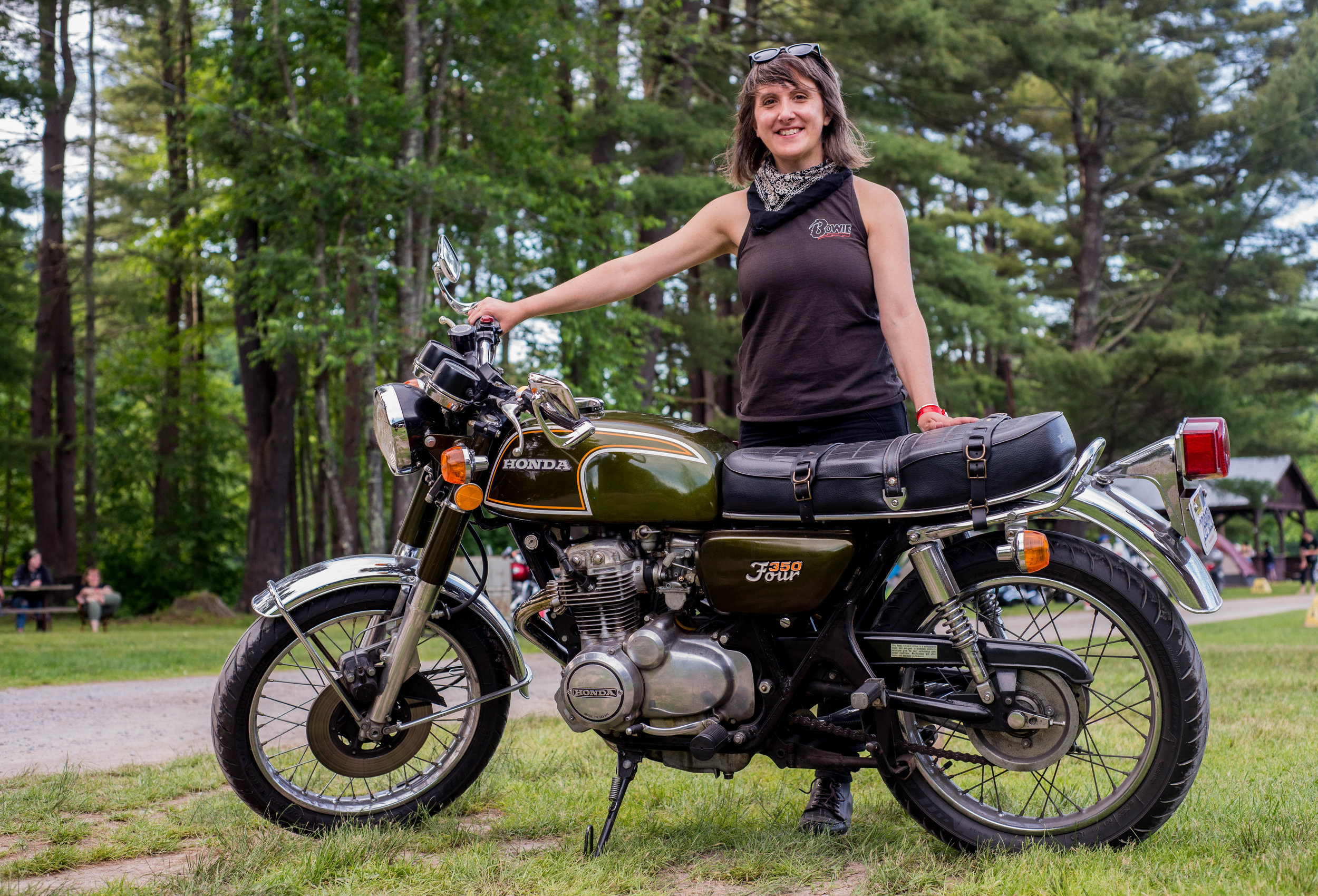 At Babes Ride Out East Coast 4, Catskills NY. Photo by Jessi Combs