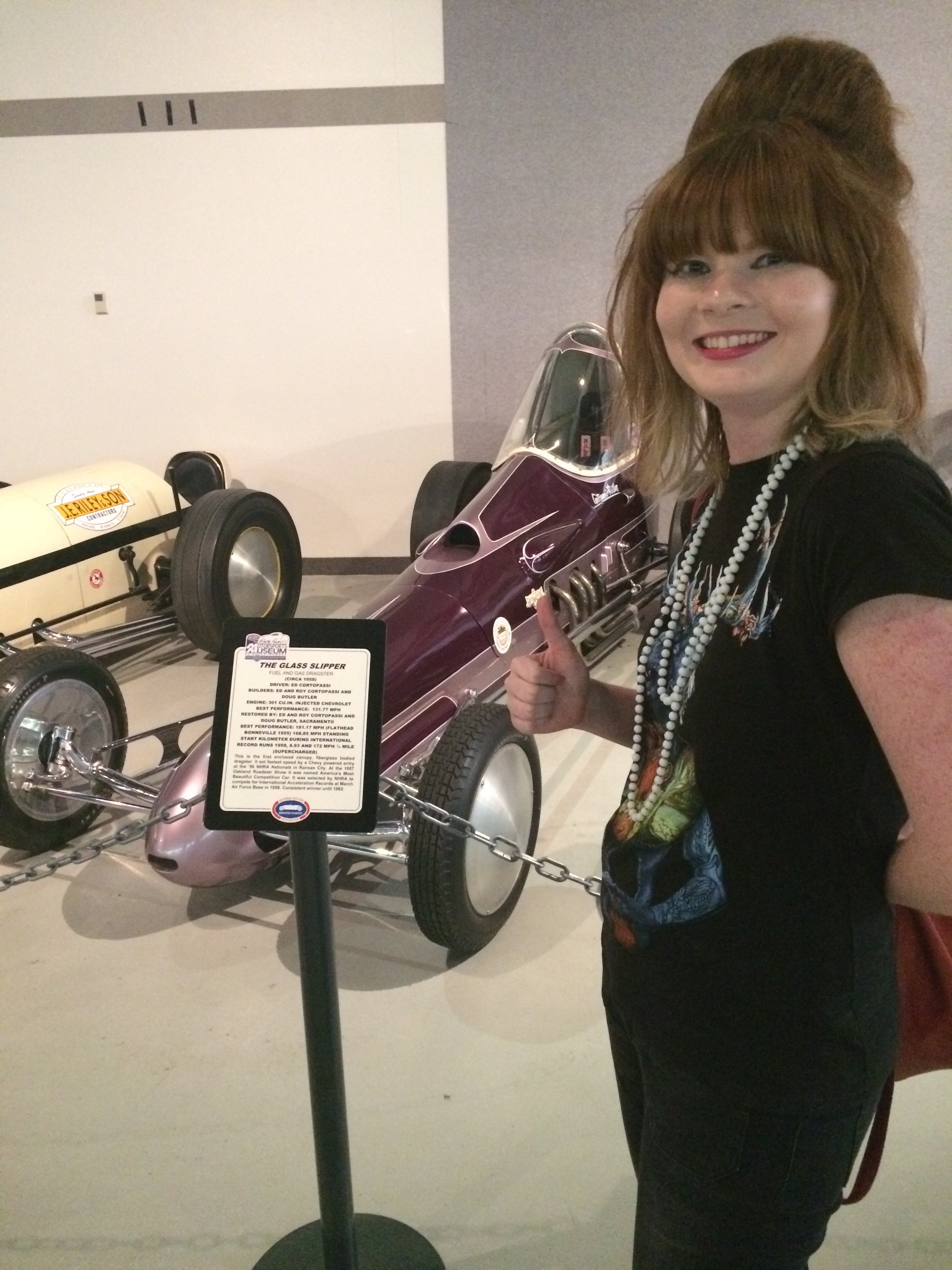 Copy of Kristin Feay Glass Slipper NHRA Museum.JPG