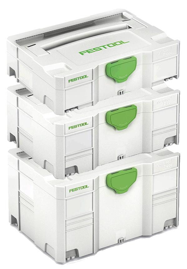 Smidig och säker förvaring med väskorna som låser i varandra.