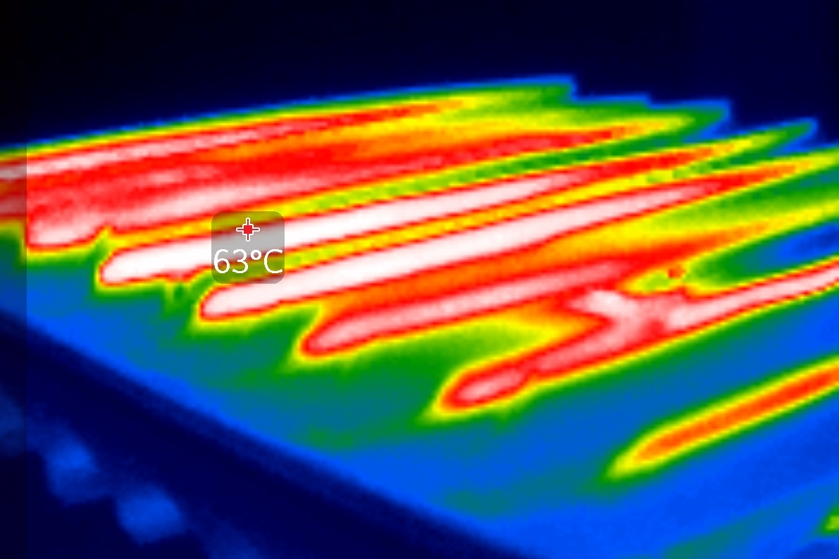 Photovoltaics thermal profile