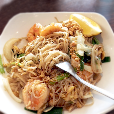 12.30p.m. - I like to take a brisk walk during lunch. Today I'm eating at my favorite Asian cafe. They have great Pad Thai! After lunch I'll head back to the office to finalize reports for a meeting later this afternoon.