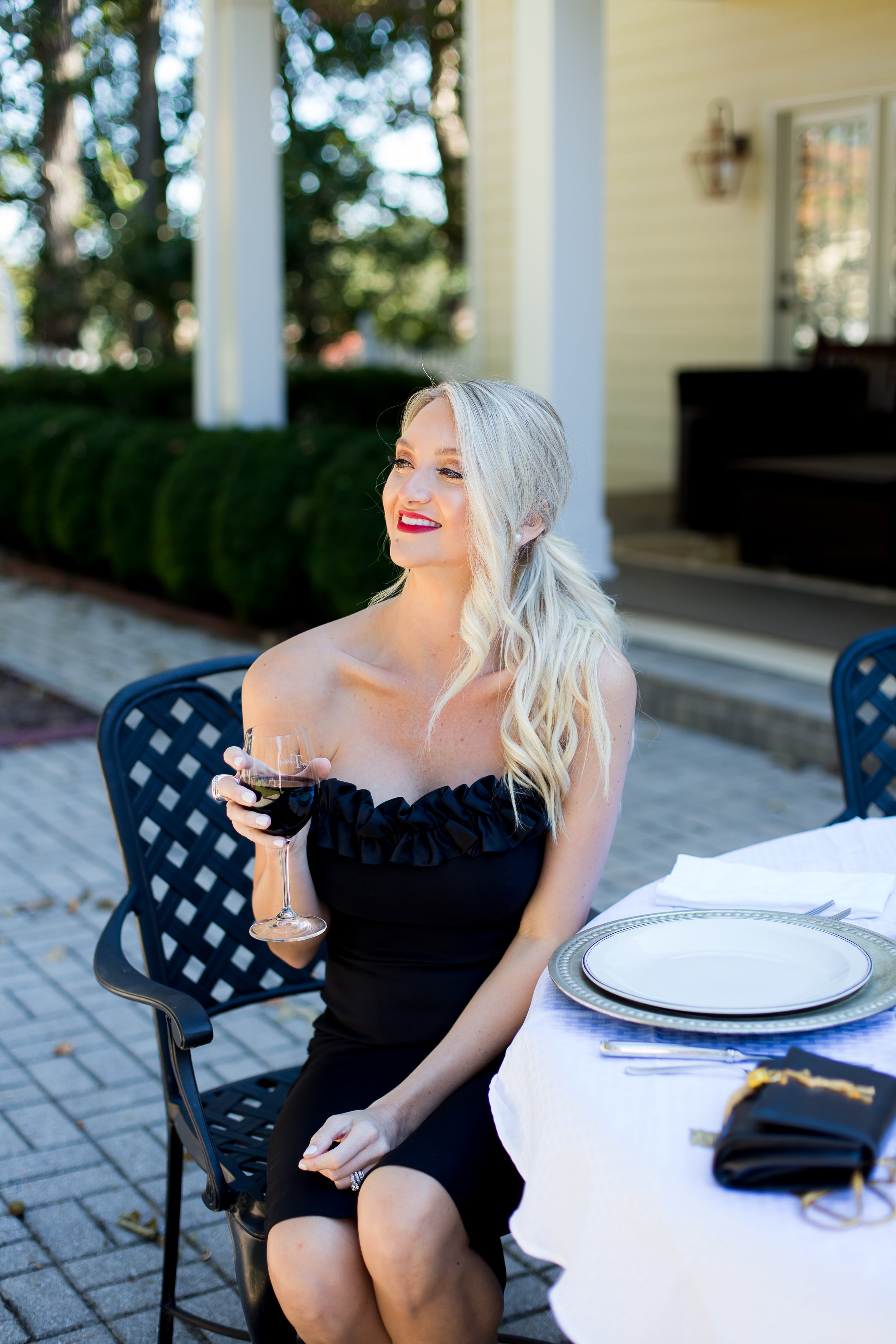 Holly, Make Today a Hollyday - What is your favorite style from the collection?My favorite dress is the Via!! I fell in love with the flirty neckline and classic silhouette!!Why do you love it? I love it because it makes me feel so feminine and flirty! When I put it on I immediately feel confident and classy!If you could wear it anywhere, where would it be? If I could wear this dress anywhere it would be to a fancy date night to my favorite restaurant with my husband. I am turning 30 this year in December and think it would be the perfect piece to wear out with a faux fur stole.