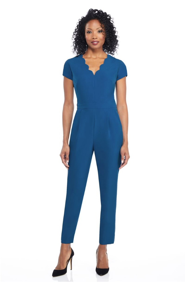 The Jill Jumpsuit - Cadet Blue