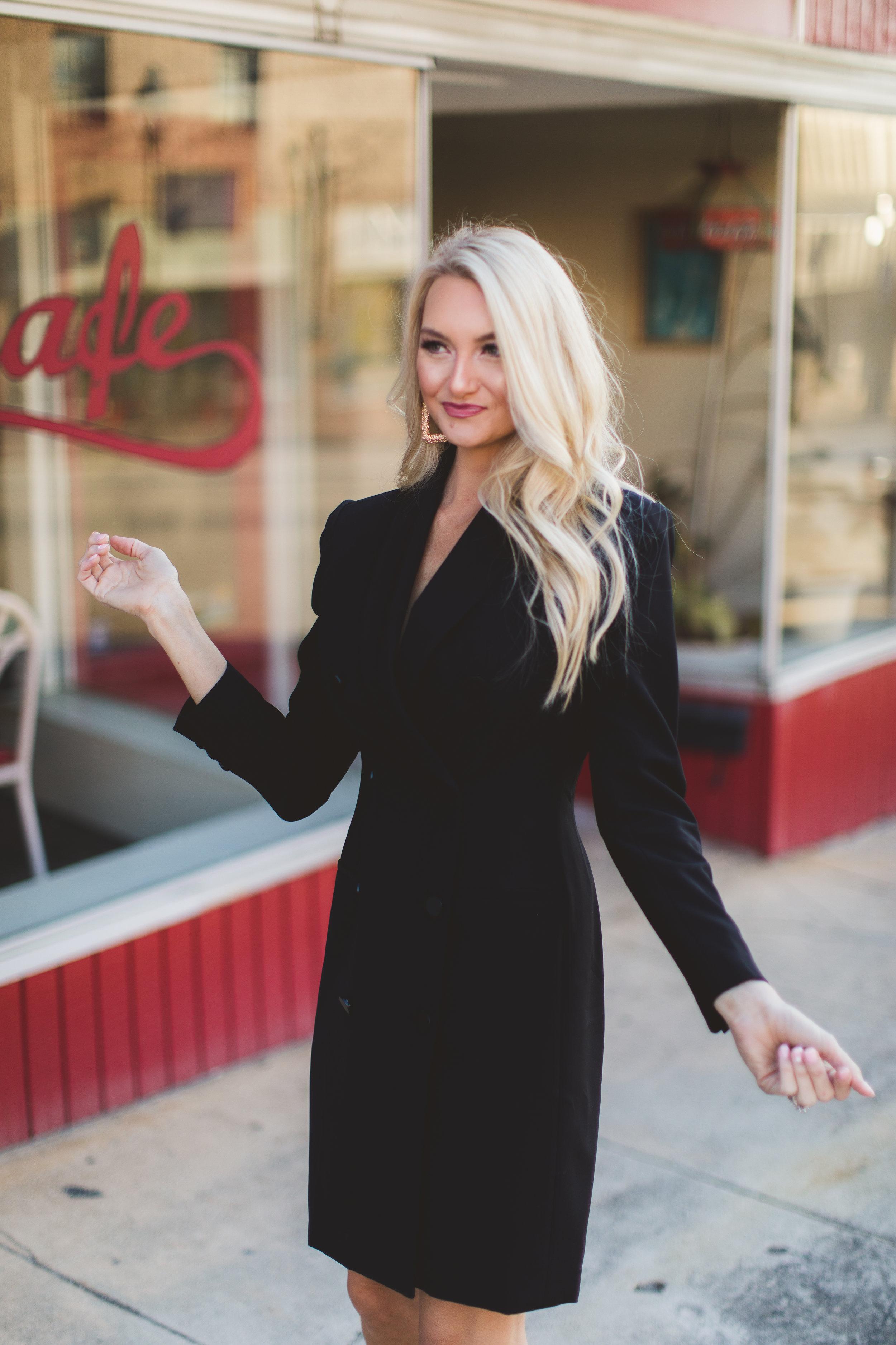 The  Toni Tuxedo Dress in Black
