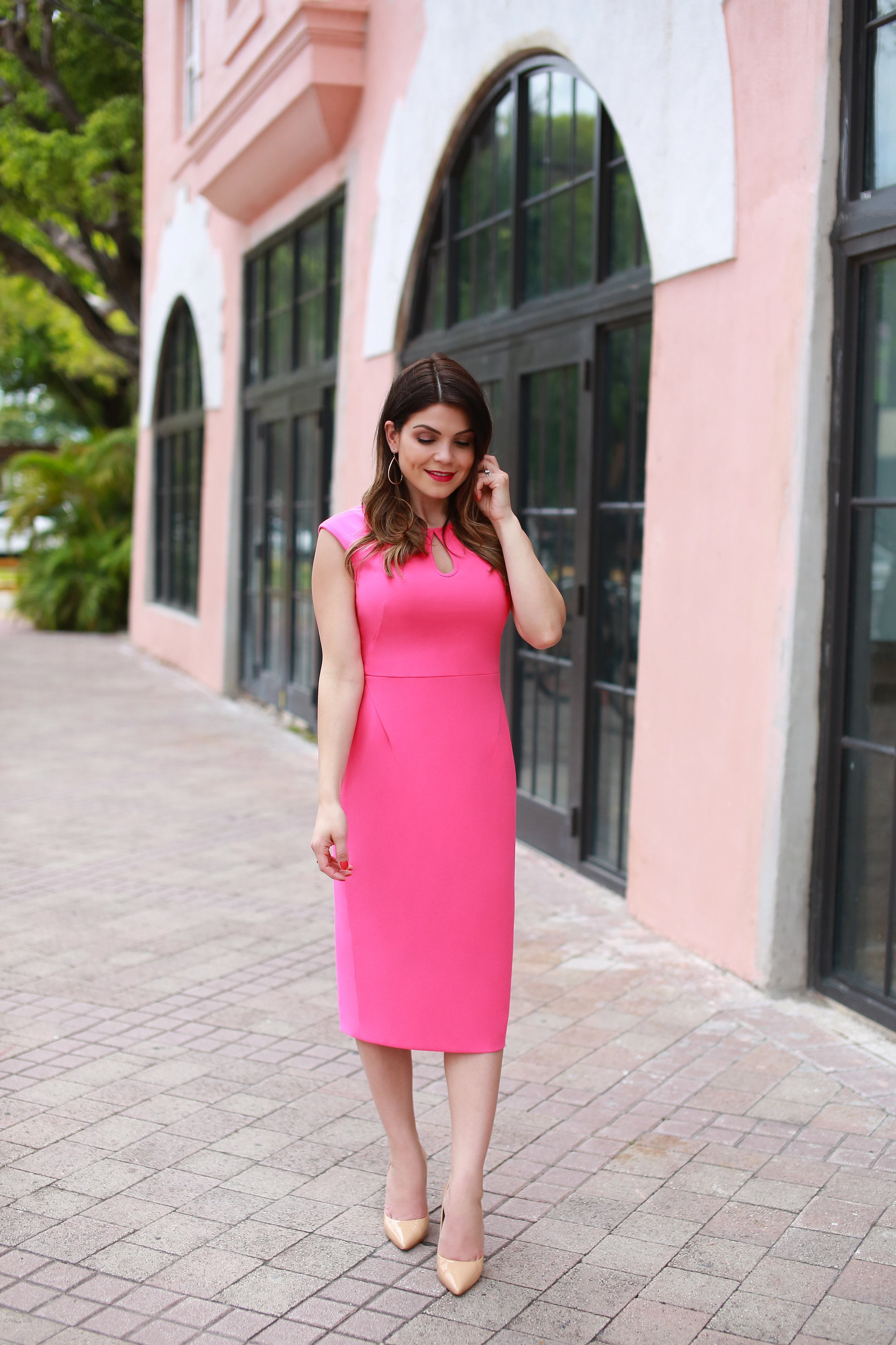 The Alyssa Midi Dress - in strawberry jam