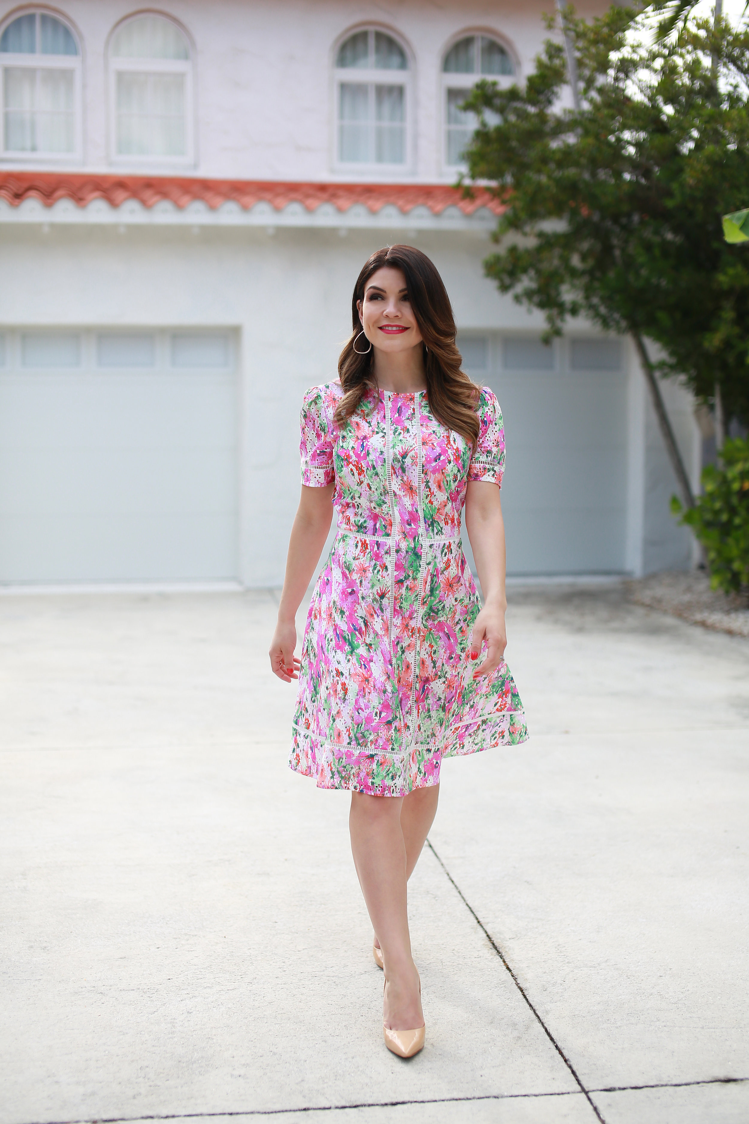 "The Pippa A-Line Dress - ""Pink and green will stand out in the crowd!"" - Betty Nguyen"