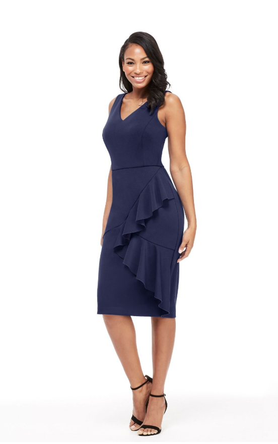 The Noreen Midi in Navy
