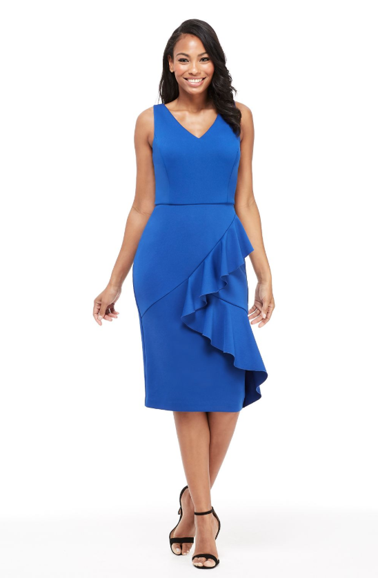 The Noreen Midi in Blue