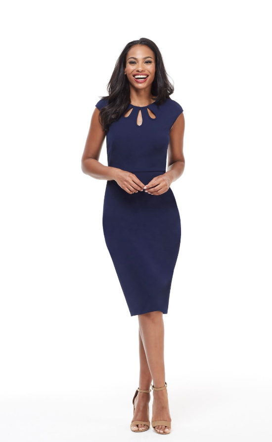 The Alyssa Midi in Navy