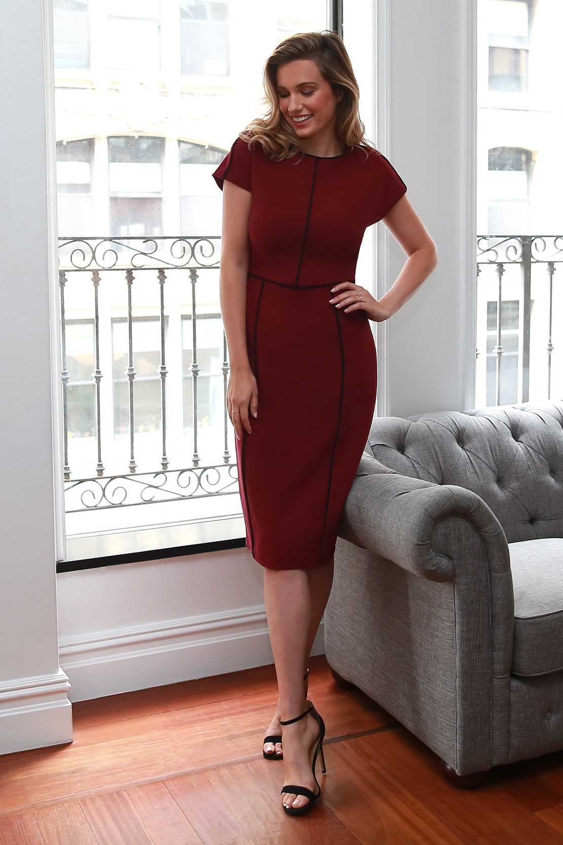 The Meryl Dress in Beet - Ultra chic with strong lines and a sophisticated silhouette, this dress was made for your most important meetings.