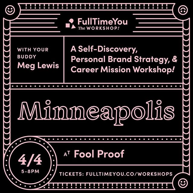 There are a few tickets left for this Thursday's @fulltimeyou workshop with @darngooood! This is a personal brand strategy, self-discovery, and career mission workshop. If you're stuck in your career, are a student looking to figure things out, are looking to create a more fulfilling role at your existing company, or wanting to create a career unlike anyone else's, this workshop is for you. Registration comes with a workbook, pen, and sticker. Details to register are at the link in our profile. See you there!