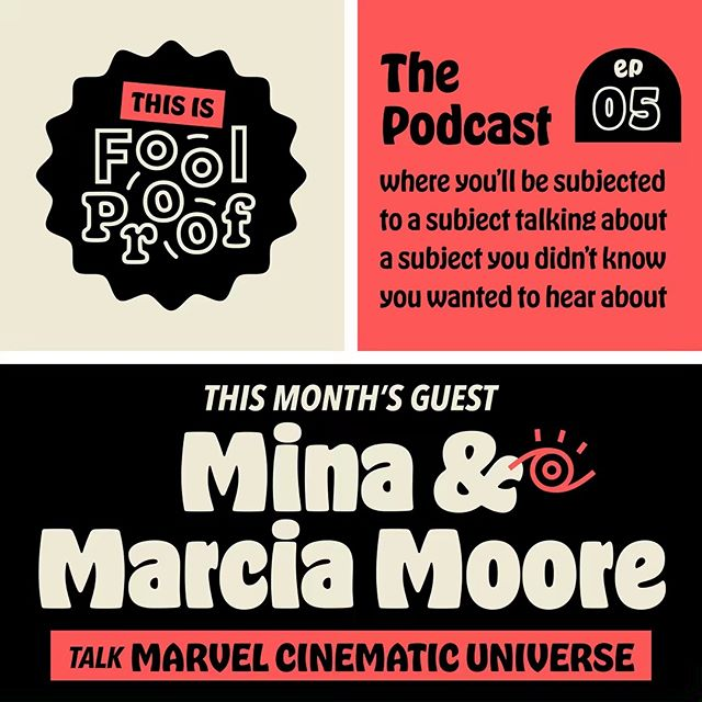 Just in time for Avengers: Endgame, our new episode of This is Fool Proof is up and it's allll about the Marvel Cinematic Universe! Join guests musician Mina Moore (@ysheyellin) and her 🔥mom🔥 Marcia as they chat about family traditions, their new obsession with the MCU, and give us a live performance of none other than the Living Single theme song! Great for fans of Marvel and for those who have no idea what anyone's talking about (cough, Meg, cough). Listen wherever you get your podcasts or through the link in our profile!