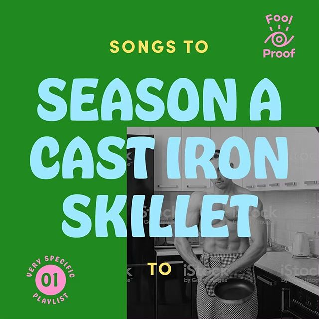 🍳NEW PLAYLIST! Our first in an upcoming series of very specific playlists is live and this one's great to listen to whilst seasoning a cast iron skillet. Full of bops and bongos, this one's a real good time machine! Link to listen on Spotify in profile.