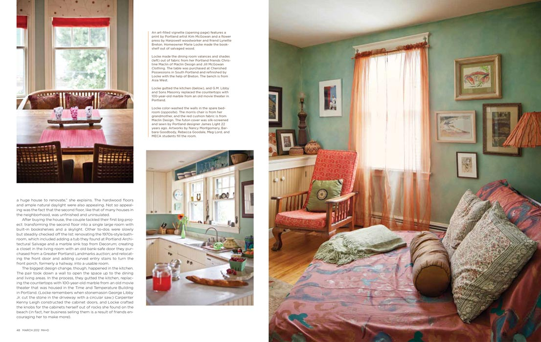 Maine Home and Design March 2012