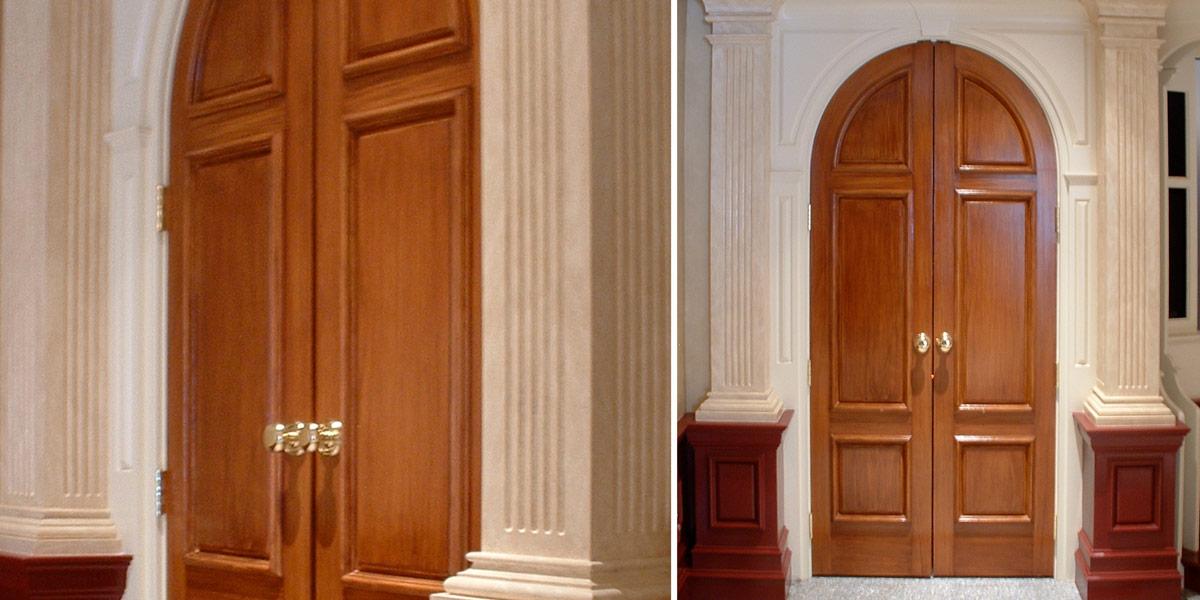 Cherry wood painted doors