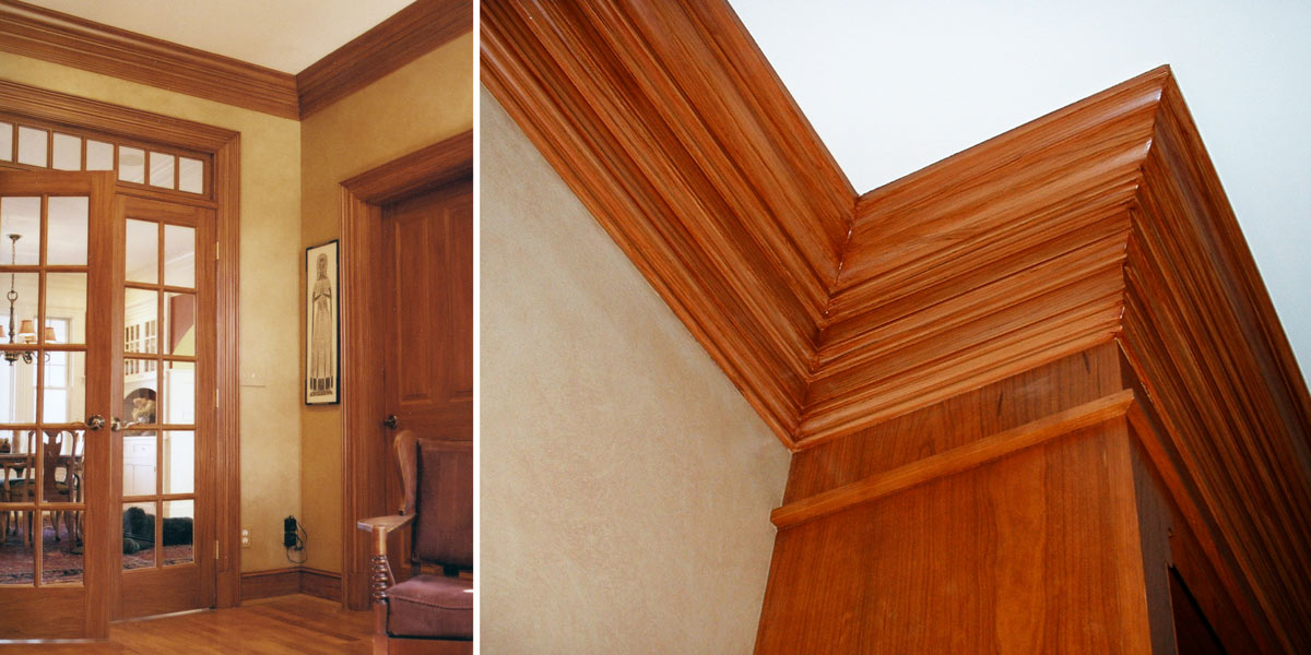 Painted Cherry Crown molding