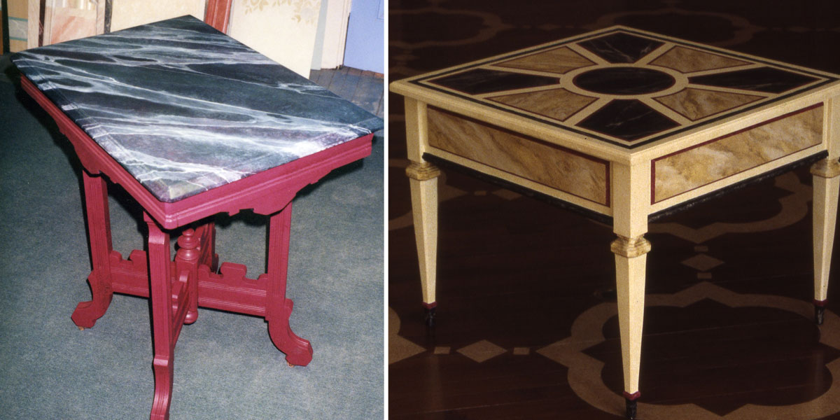 Marble Treatments on Furniture