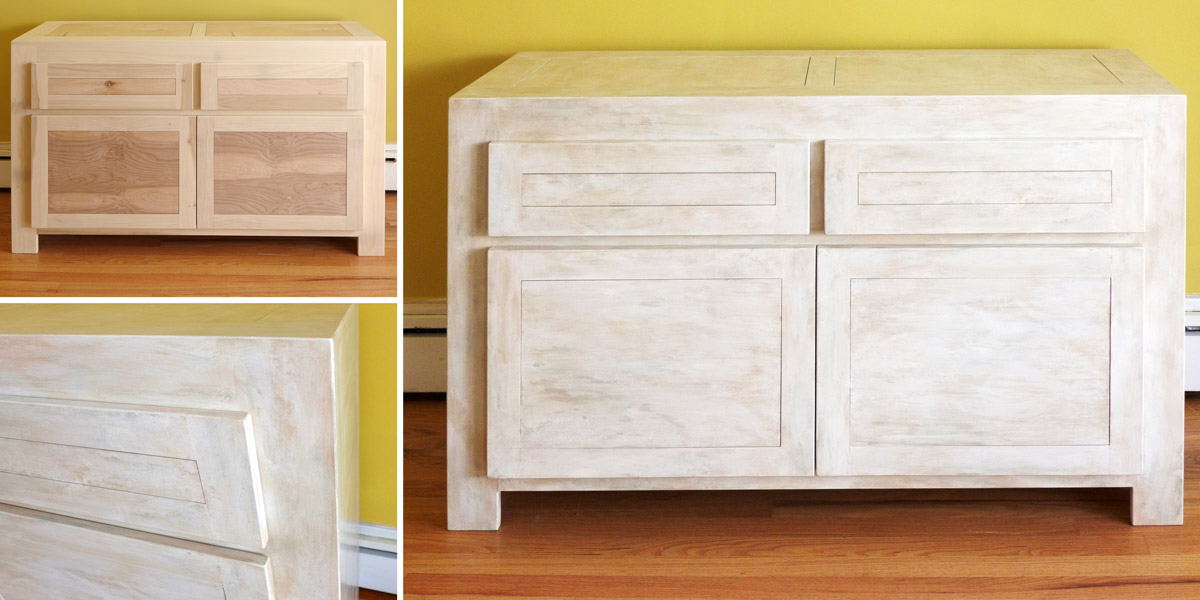 Decorative Treatment on Living Room Cabinet