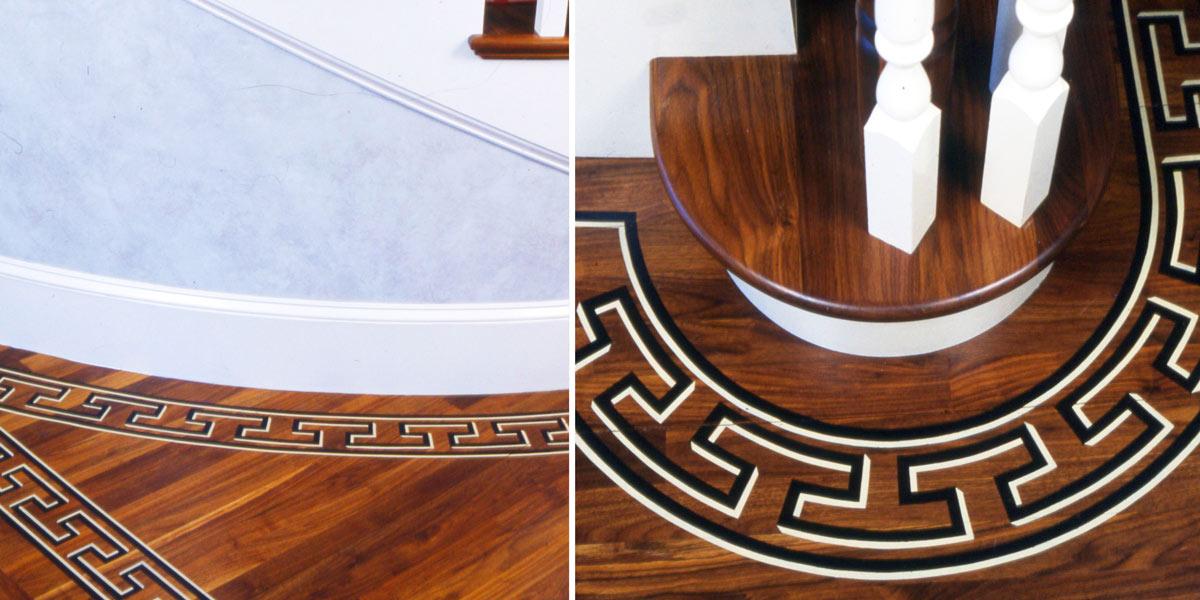 Stenciled Greek Key pattern