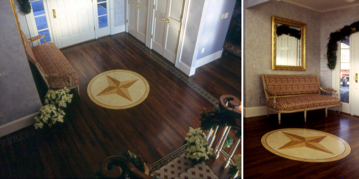 Compass Rose in Entryway
