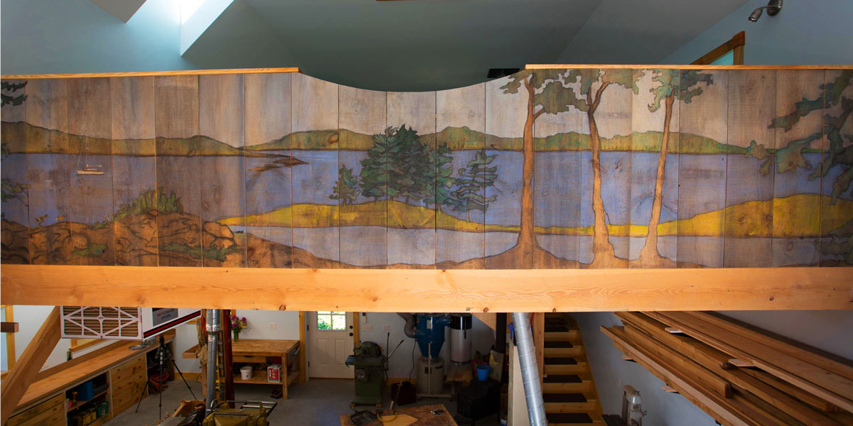 Mural Painted on Sawn Boards