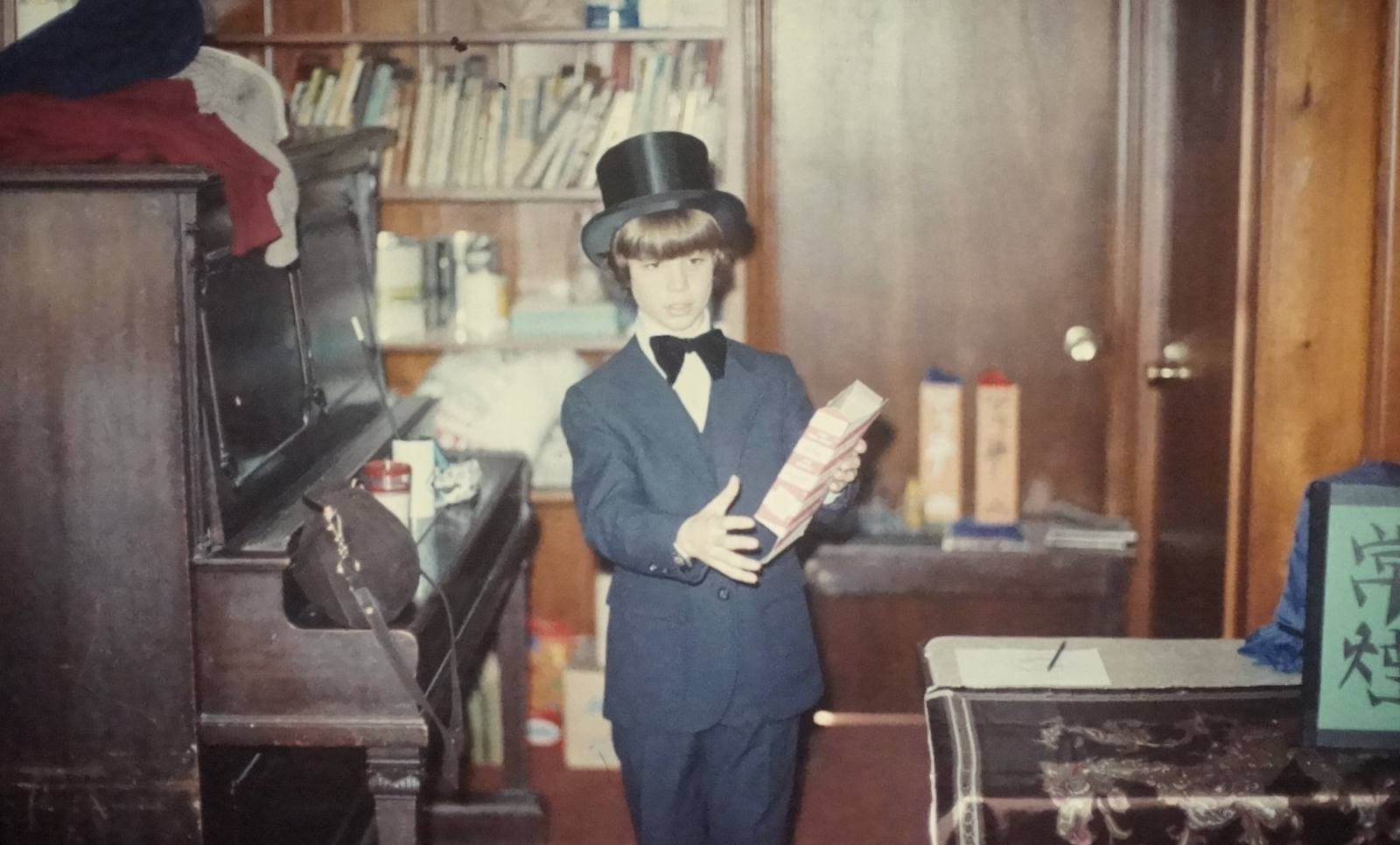 This is Andy at about 10 years old doing one of his first magic shows.
