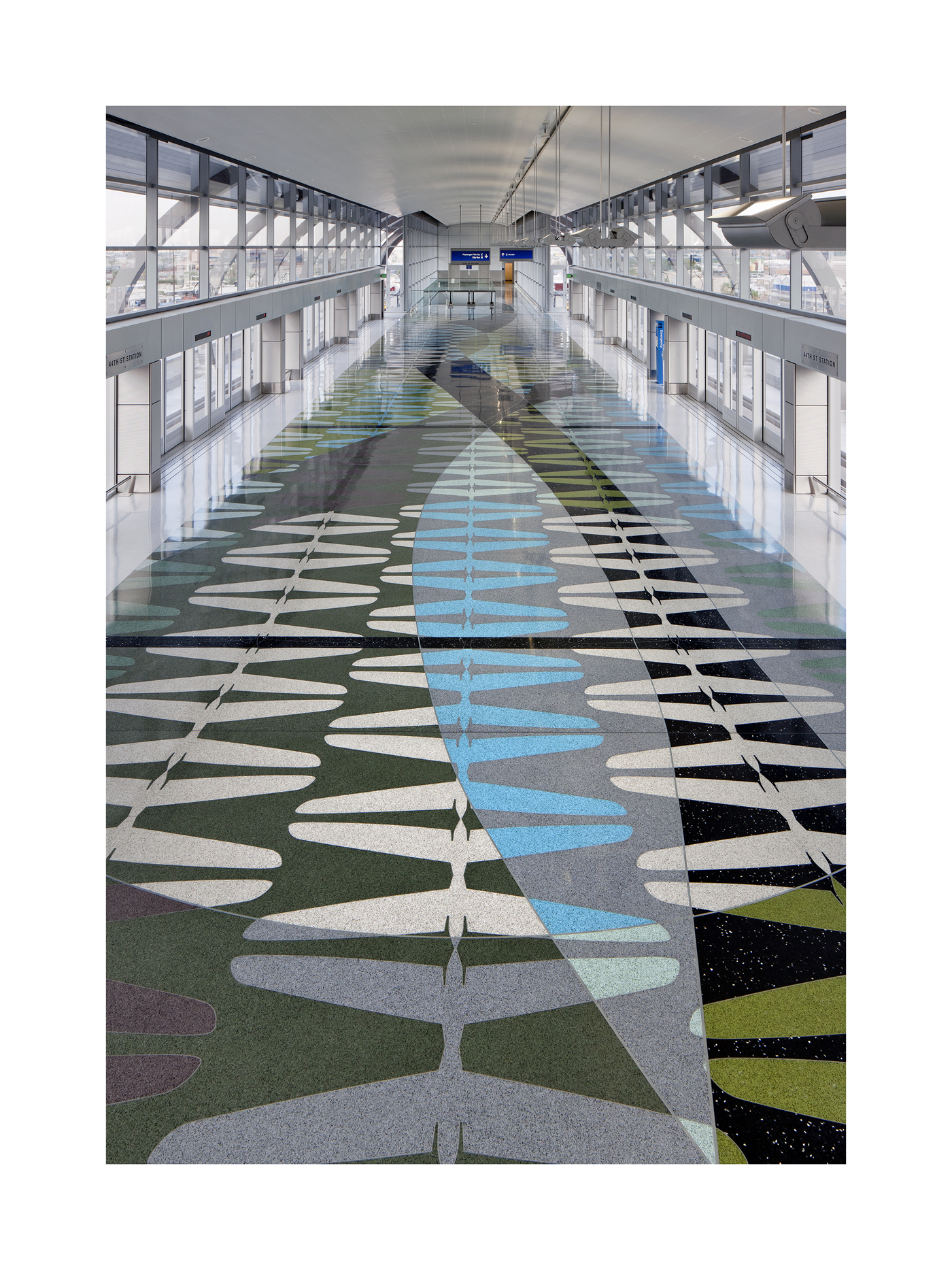 Phoenix Sky Train Station Terrazzo Floor   Tailplane Patterns  Phoenix Office of Arts and Culture  2013  Photo Credit: Bill Timmerman