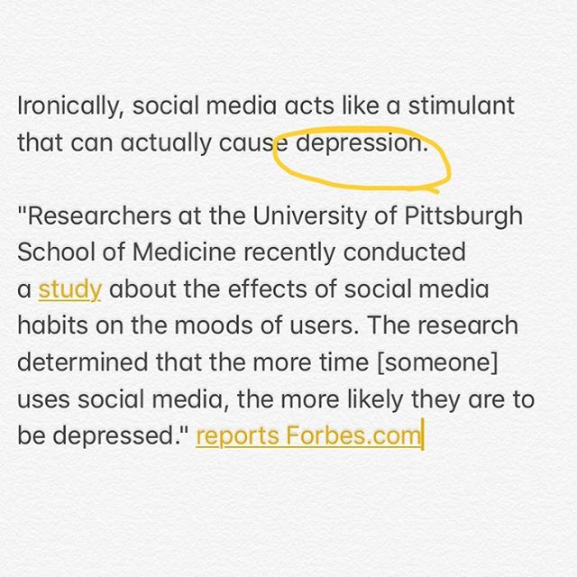 So many of us, when asked, would say we suffer from feelings of depression in some way. Whether or not we mean clinically depressed or not, the fact is many of us are not thriving, and it's not just teens. How much of it stems from the hours, and yes, I mean hours, of Snapchat, Instagram, Facebook and other social media apps we are looking at everyday?  How do we take back control of our time? [the text above came from a newsletter from my kids high school. I am glad they are starting these important conversations]