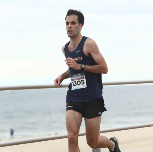 Returning to the marathon after an Achilles injury, Brandon ran his first sub-3:00 marathon in New Jersey in 2017