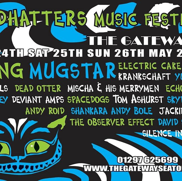 Day tickets now available for Madhatters' Festival ... us on afternoon Sat 25 May https://thelittleboxoffice.com/seatongateway/event/view/87268