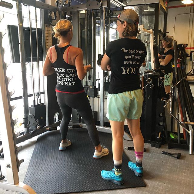 Lori and Dana rocking their Workout 32789 gear while working hard💪 with some cable rows! #Workout32789 #CableRows #SwagGear