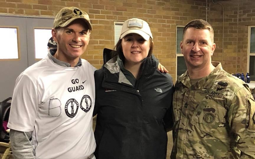 Pictured above: MAJ Randall Stanford, Jamie Baraibar, and SFC Shawn Bryant
