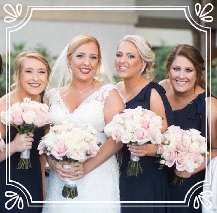 This wedding party was hand-sprayed with Vita Liberata Organic Airbrush Tan at The W Spa! Beautiful golden glow on these ladies!