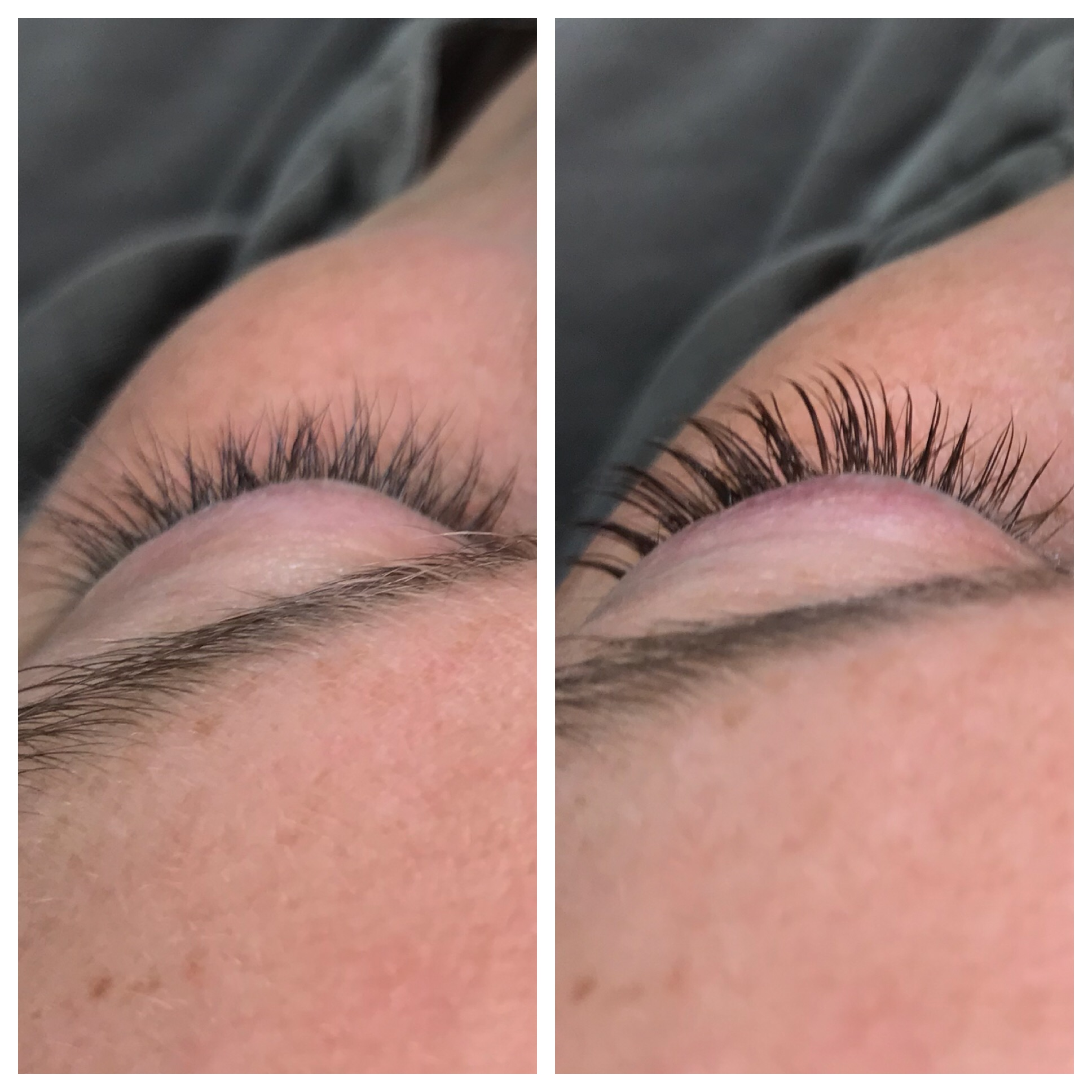 Lash lift before and after. This quick and easy service is perfect for a low-maintenance gal who wants gorgeous lashes!