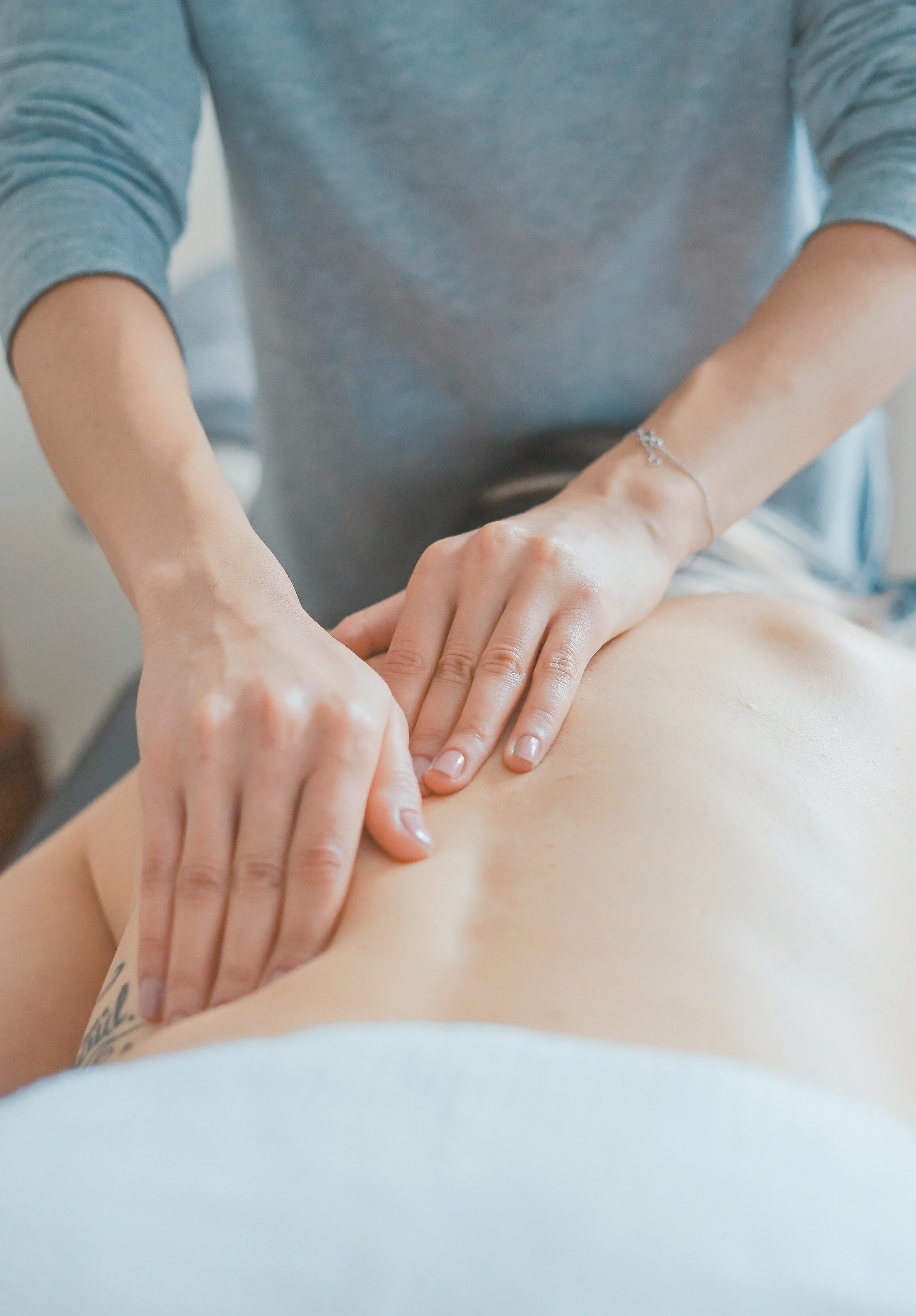 During: - When you arrive for your first massage at The W Spa, the first thing you will do is fill out paperwork with health history and other personal information. You will want to fill this out as honestly as possible. For example, if you just found out you are pregnant, you would want to make sure you tell your massage therapist this. They would make sure not to have the heated table top on or using any types of stimulating products.Your massage therapist will first lead you to the tranquility room. Here you can undress to your comfort level, change into a cozy robe, and take a few minutes to relax. When your massage therapist is ready for you, they'll lead you to the massage room and start by telling you a little bit about what to expect. They will tell you to lay down on the table, face up. A 60 minute full body massage typically starts with a head & scalp massage to get you relaxed. Then, they will work the neck and shoulders, move on to each arm, and work their way to the legs & feet. Next, you will flip around on the massage table and they will work on the back of the legs and potentially the glutes. Glute work is discussed prior to the start of the massage. It can be very intense but always a great benefit. Your therapist will finish with a back massage. Finally, you are able to flip over once more and have your scalp and sinuses cleared before you are done with your first massage.
