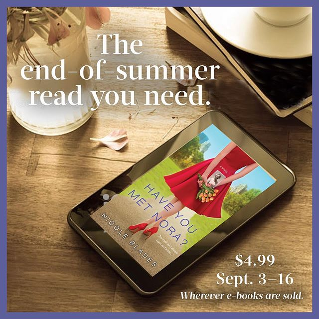 The air is starting to get that chill... AUTUMN IS COMING! Time to for that perfect end-of-summer read. Here's one to nab: my novel, HAVE YOU MET NORA? 😇😇 The ebook  version is on sale for $4.99 from now until Sept. 16th. 📚✨✨✨ Get it on this deal, good people! #HYMNBook #tallpoppywriters