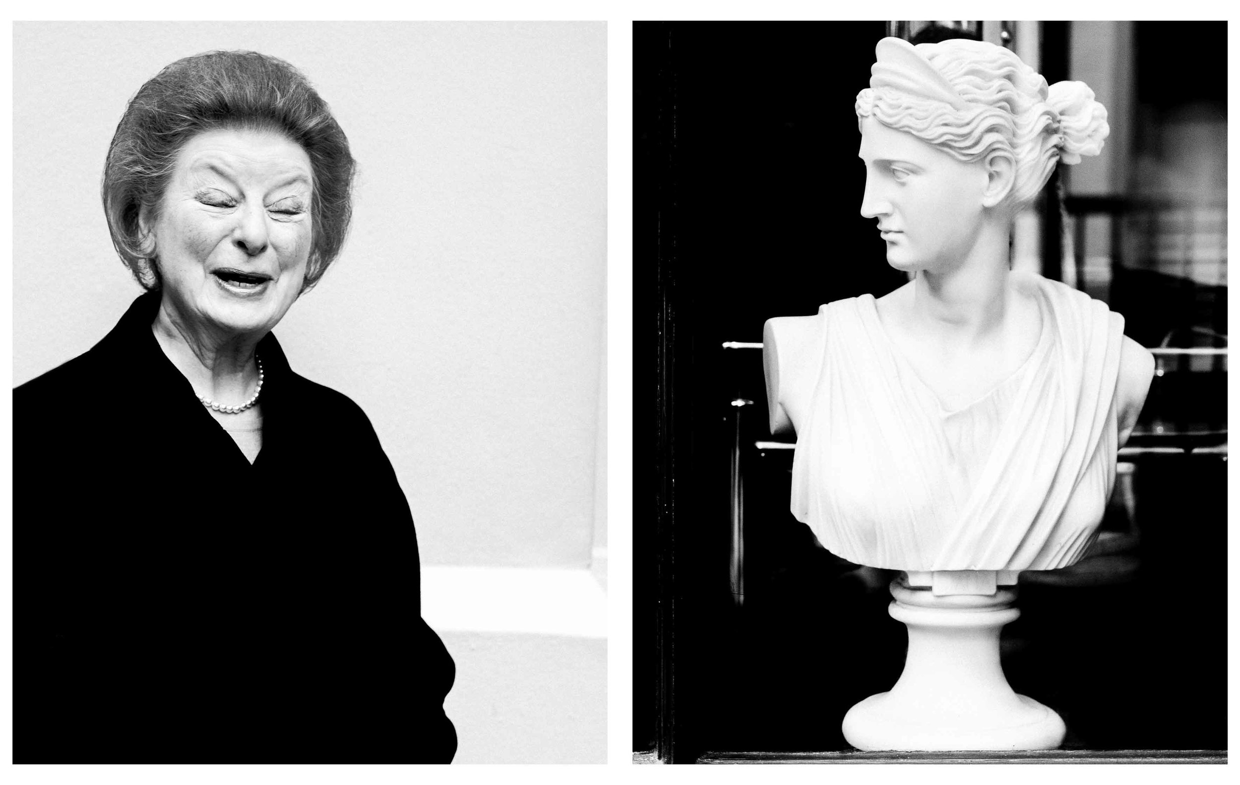 Lady and Statue