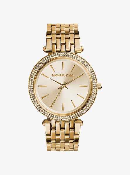 Michael Kors Darci Pave Gold-Tone Watch