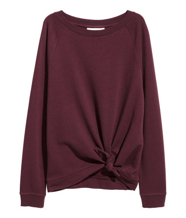 Knotted Sweatshirt