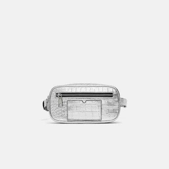 Zara Metallic Belt Bag.jpg
