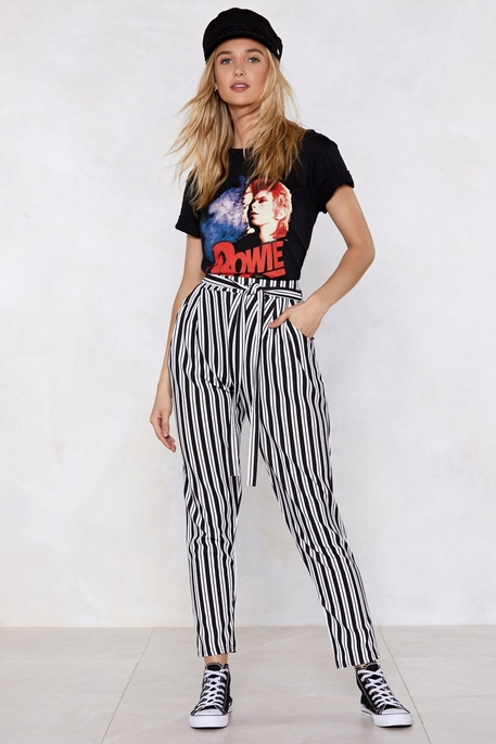 All In Good Line Striped Pants