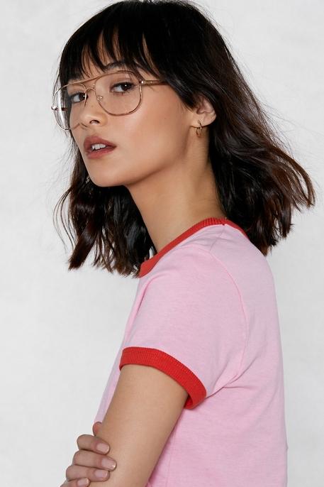 Clear Aviator Glasses: Nasty Gal
