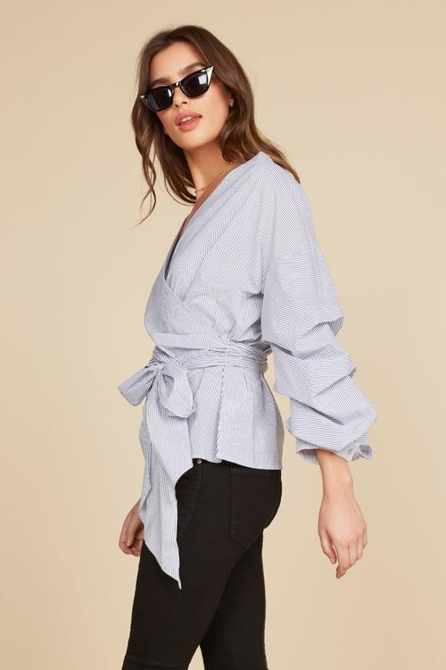 Isabel Wrap Top: Willow & Clay