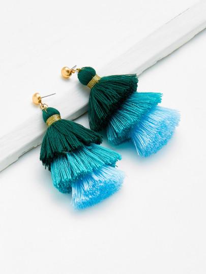 Color Block Earrings: SheIn