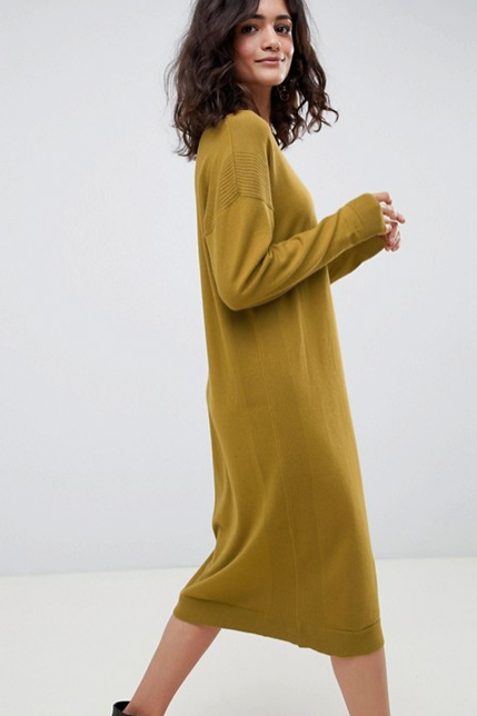 Olive Sweater Dress || ASOS ||