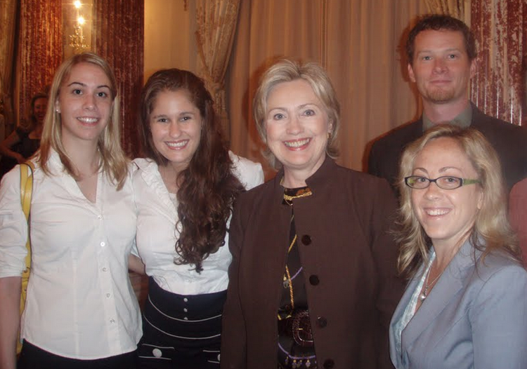 Our Interns withSecretary Hillary Clinton -