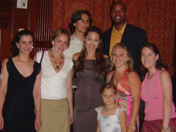 Meeting with Angelina Jolie on her visit to Washington, DC advocating against human trafficking -