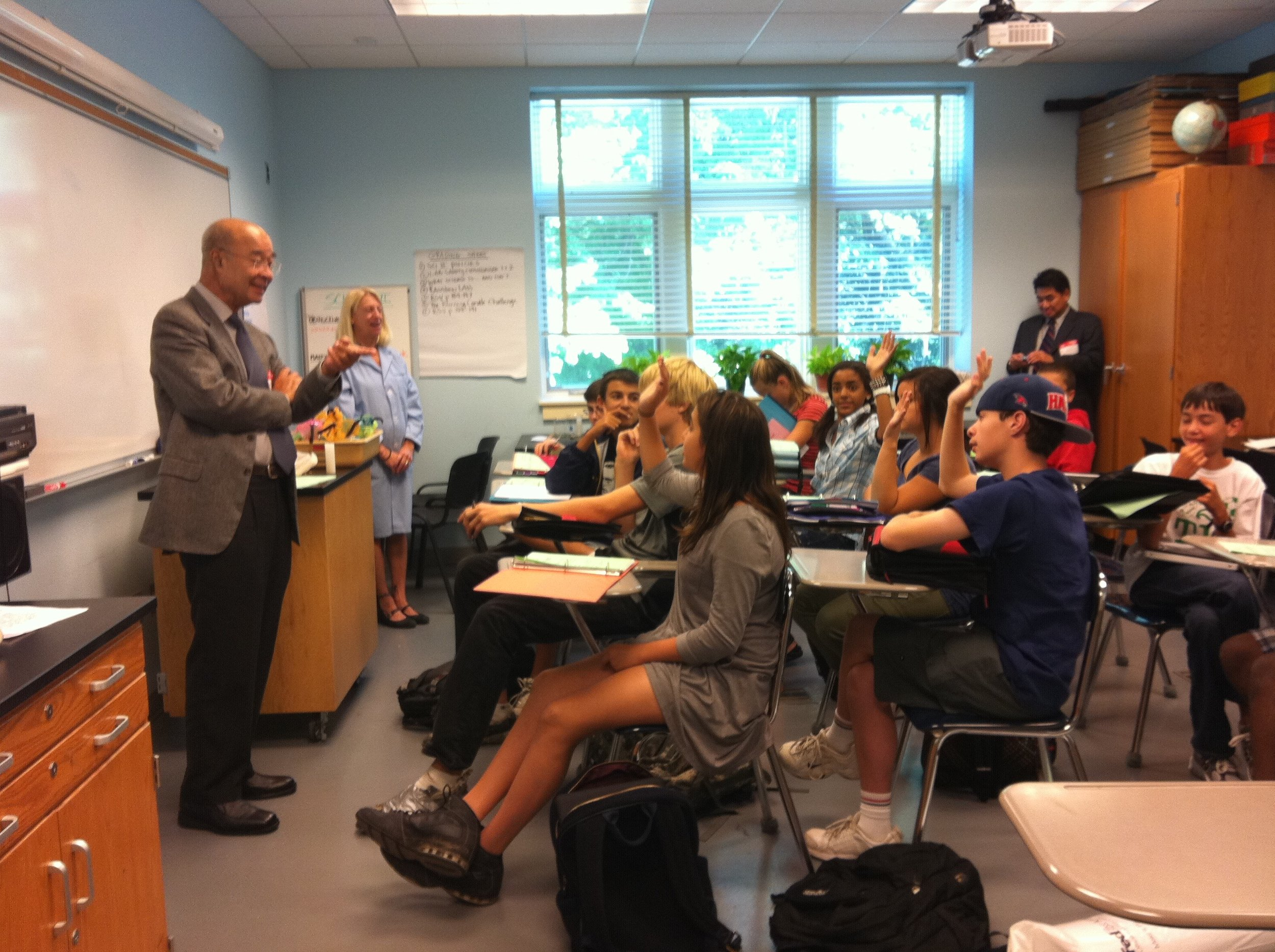 Speaking engagements at local high schools -