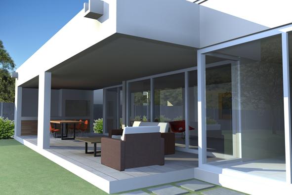 Propuesta Quincho Y Terraza Casa B Barrio Mediterraneo La