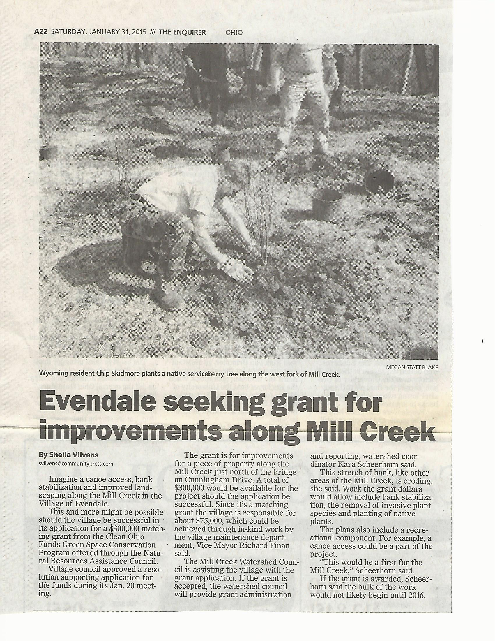 Cincinnati Enquirer_Evendale seeking grant_07.31.15.jpg